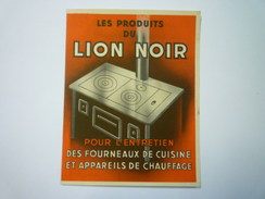 """PUB  2  VOLETS  """"LION NOIR""""   XXX - Publicité"""