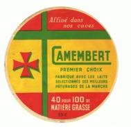 Etiquette - Fromagerie St-Martial  - Camembert  ( Fr45) - Publicités