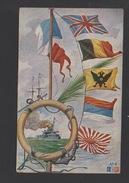 DF / TRANSPORTS / BATEAUX / GUERRE / CUIRASSIER ET DRAPEAUX / CIRCULÉE EN 1921 - Guerre