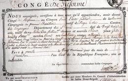 Congé An VIII Général MORTIER 1800 Maréchal - Autografi