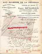 ALGERIE - ALGER -AUX GALERIES DE LA PECHERIE-LEON SINDRES-1- RAMPE PECHERIE- FAIENCE PORCELAINE- ARTICLES EMAILLES- 1926 - Factures & Documents Commerciaux