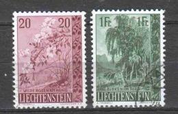 Liechtenstein 1957 Mi 358-359 Canceled