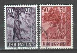 Liechtenstein 1958 Mi 371-372 Canceled
