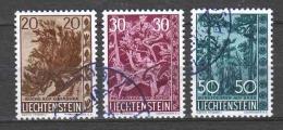 Liechtenstein 1960 Mi 399-401 Canceled