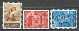 Liechtenstein 1960 Mi 395-397 MNH - Liechtenstein