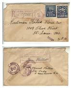 Honduras Registered Cover 1929 Certificado La Ceiba To Saint Louis USA 2 Scan - Honduras