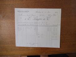 ROUBAIX E. LIAGRE & Cie MANUFACTURE DE CASQUETTES 3 RUE DU LIEUTENANT CASTELAIN FACTURE DU 11 MARS 1922 - France