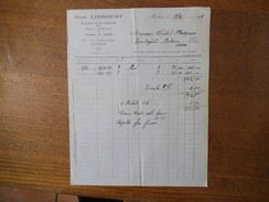 ROUBAIX HENRI LIBBRECHT MANUFACTURE DE VÊTEMENTS 3bis RUE SAINT JOSEPH FACTURE DU 29/4/1929 - France