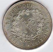 Pièce De 50 Francs En Argent De 1974 - Francia