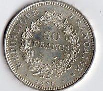 Pièce De 50 Francs En Argent De 1978 - Francia