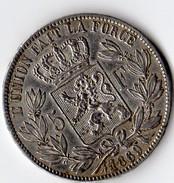 Pièce En Argent Belge De 5 Francs De 1869 Parfait état - 1865-1909: Leopoldo II