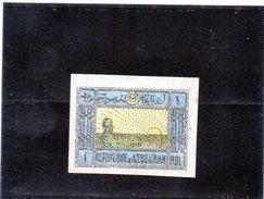 B - Azerbaijan 1919 - Soggetti Vari (linguellato) - Azerbaijan