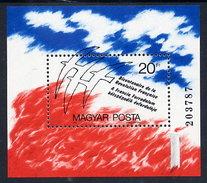 HUNGARY 1989 Bicentenary Of French Revolution Block MNH / **.  Michel Block 203 - Hungary