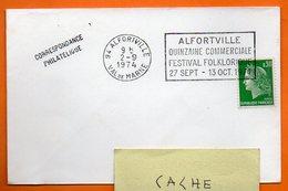 94 ALFORTVILLE   FESTIVAL FOLKLORE 1974 Lettre Entière N° DD 612 - Annullamenti Meccanici (pubblicitari)
