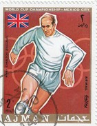 Ajman -1 Stamp Used  Calcio  Bobby Charlton - World Cup