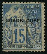 GUADELOUPE - YT 19aB -  ERREUR DE SURCHARGE GUADBLOUPE - TIMBRE OBLITERE - Guadeloupe (1884-1947)