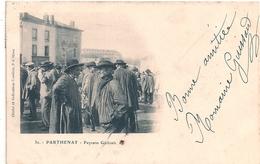 Cpa 79  Parthenay  Sur Le Marché Aux BoeufsPaysans Gatinais - Parthenay