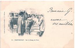 Cpa 79  Parthenay  Sur Le Champ De Foire - Parthenay