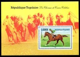 Togo, 1985, Horse Racing, Horse Riding, Equestrian, MNH, Michel Block 261 - Togo (1960-...)