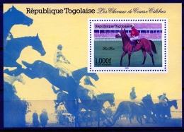 Togo, 1985, Horse Racing, Horse Riding, Equestrian, MNH, Michel Block 262 - Togo (1960-...)