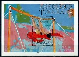 Togo, 1984, Olympic Summer Games, Medal Winners, Gymnastics, MNH, Michel Block 245 - Togo (1960-...)