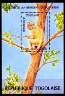 Togo, 1984, Protected Animals, Fauna, Wildlife, Monkey, MNH, Michel Block 243 - Togo (1960-...)