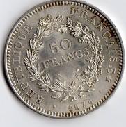Pièce De 50 Francs En Argent De 1976 - Francia