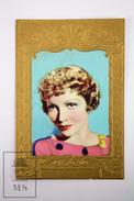 Cinema/ Movie Advertising Golden Frame Trading Card Actress: Claudette Colbert - Merchandising