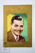 Old Cinema/ Movie Advertising Golden Frame Trading Card Actor: Clark Gable - Merchandising