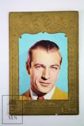 Old Cinema/ Movie Advertising Golden Frame Trading Card Actor: Gary Cooper - Merchandising