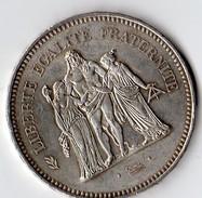 Pièce De 50 Francs En Argent De 1977 - Francia
