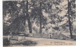 58 - ENTRAINS - Entrée Du Parc, Côté Du Passage à Niveau - France