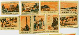MATCHBOX LABELS RUSSIA CCCP URSS 1960's CRIMEAN RESORTS - Old Paper
