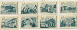 MATCHBOX LABELS RUSSIA CCCP URSS 1960's LENINGRAD SUBWAY STATIONS - Old Paper