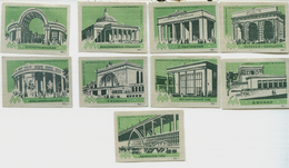 MATCHBOX LABELS RUSSIA CCCP URSS 1960's MOSCOW SUBWAY STATIONS - Old Paper