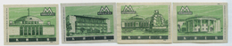MATCHBOX LABELS RUSSIA CCCP URSS 1960's KIEV SUBWAY STATIONS - Old Paper