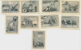 MATCHBOX LABELS RUSSIA CCCP URSS 1960's CONSTRUCTION EQUIPMENT - Old Paper