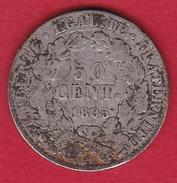 France 50 Centimes Cérès 1895 A - France