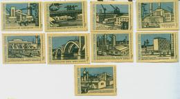 MATCHBOX LABELS RUSSIA CCCP URSS 1960's ACHIEVEMENTS INDUSTRIAL BUILDINGS - Old Paper