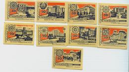 MATCHBOX LABELS RUSSIA CCCP URSS 1960's REPUBLIC OF TAJIKISTAN ACHIEVEMENTS - Old Paper