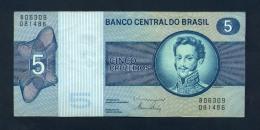 Banconota Brasile 5 Cruzeiros 1973 - FDS - Brazilië