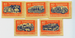 MATCHBOX LABELS RUSSIA CCCP URSS 1960's 40 YEARS ANNIVERSARY REPUBLIC OF UZBEKISTAN - Old Paper