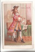 Chromo Calendrier 1876 Au Grand Conde  Nouveautes Rue De Seine - Calendriers