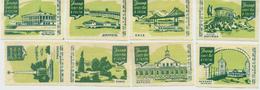 MATCHBOX LABELS RUSSIA CCCP URSS 1960's TOURISM ADVERTISING DNEPR - Old Paper