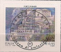 2016 .11.25 Italien Mi.  Used Forte Di Bard - 6. 1946-.. Republik