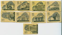 MATCHBOX LABELS RUSSIA CCCP URSS 1960's NATIONAL ACHIEVEMENTS EXHIBITION PAVILIONS - Old Paper