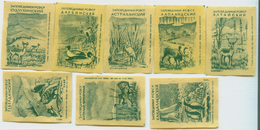 MATCHBOX LABELS RUSSIA CCCP URSS 1960's FAUNA AND FLORA NATURAL RESERVATIONS - Old Paper