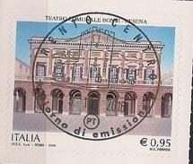 "2016 .11.25 Italien Mi.  Used Teatro Comunale ""Bonci"" Di Cesena - 6. 1946-.. Republik"