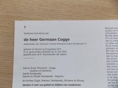 Doodsprentje Germaan Cogge Veurne 8/8/1921 - 21/5/2002 ( Yvonne Sinnaeve ) - Religion & Esotericism