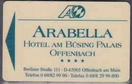 GERMANY Hotelkarte - Key-card  - Arabella - Offenbach - Hotelkarten